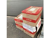5 x boxes of light stone/beige wall or floor tiles