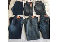 Men's Levi's, Hugo Boss and Paul Smith Jeans x6 JOBLOT