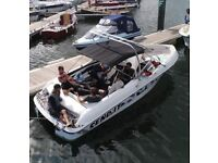 Custom Four Winns family/wakeboard boat bowrider with trailer, new interior, new covers, low hours