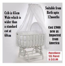 Romany / Spanish Style Extra Large Crib Larger than any moses basket