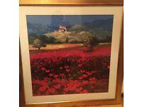 Gold framed poppies picture- John Morse