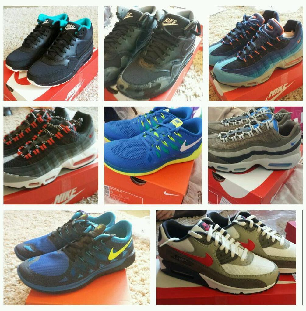 ywrao Nike collection air max 1 90 95 110 Free run. Loads of sizes BRAND