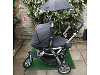 JANE SLALOM PRO PUSHCHAIR + MATRIX CUP (CAR SEAT) + FOOTMUFF