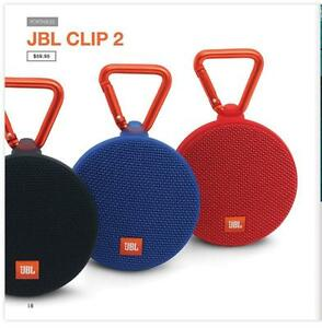 JBL Clip 2 Waterproof Portable Bluetooth Speaker  4 Colours Available