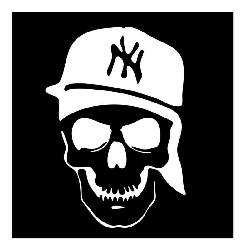NEW YORK YANKEES SKULL 5X7 BROOKLYN VINYL CAR TRUCK WINDOW DECAL STICKER