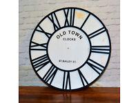 Vintage style large clock antique industrial decor retro
