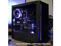 Gaming PC Ryzen 1700, GTX1070 Hybrid, 16GB RAM, 240GB SSD + 2TB HDD...