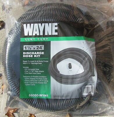Wayne Sump Pump Discharge Hose 1-14 X 24 Part 6600 Wyn1 New