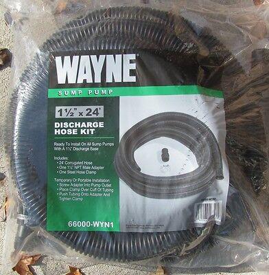 Wayne Sump Pump Discharge Hose 1-14 X 24 Part 6600 Wyn1 New