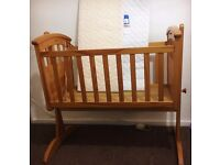Wooden Baby Cot- used