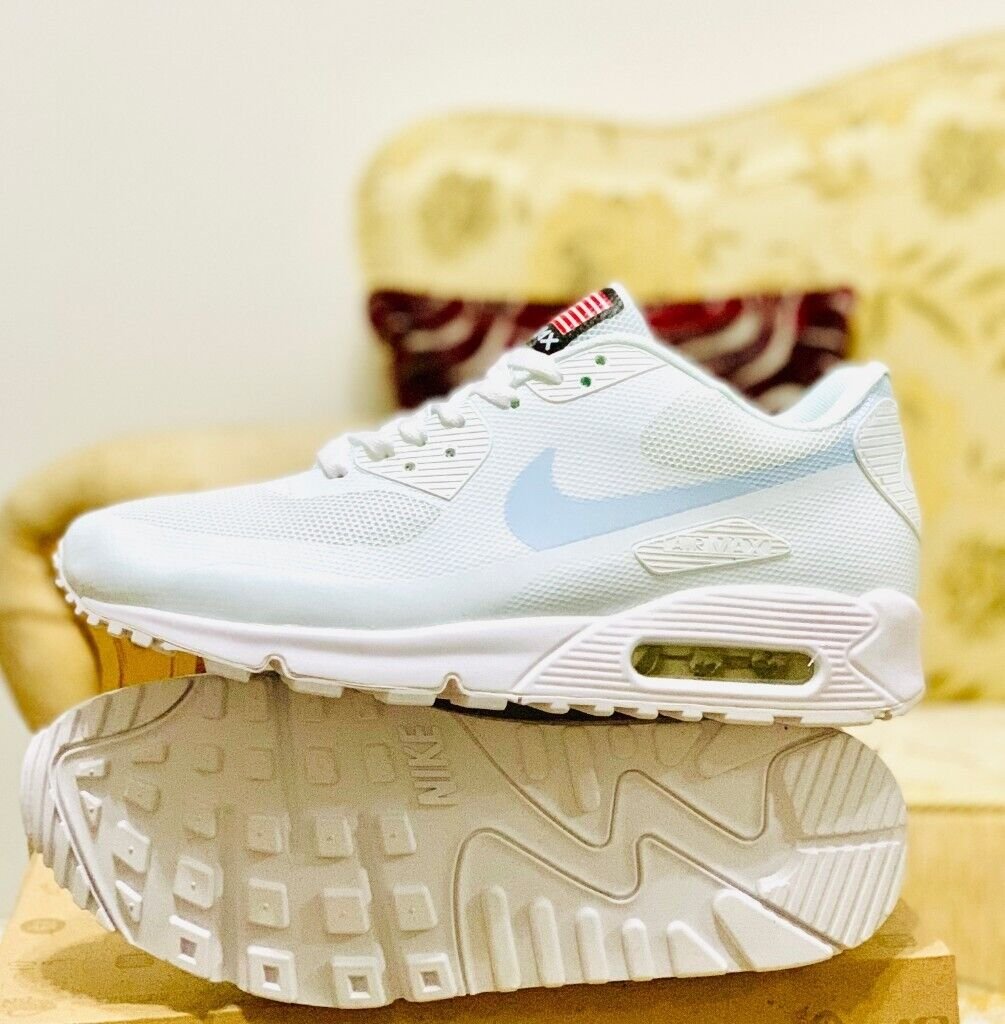 nike air max 90 hyperfuse white independance day all sizes ...