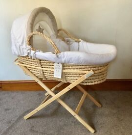 KIDDICARE Moses Basket with Coverlet & Stand