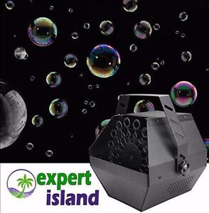 Bubbles, Bubbles and more Bubbles with an Automatic Bubble Blowing Machine - comes with Bonus Bubble Fluid