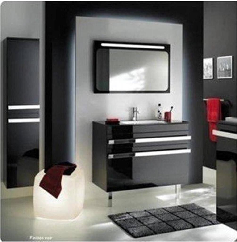 Glass Top Bathroom Vanity Sink Unit Wall Hang Furniture 1217b On