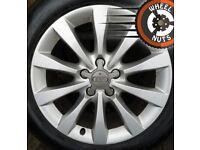 """17"""" Genuine Audi A6 alloys Passat Superb perf cond premium tyres."""