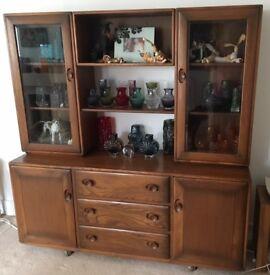 ERCOL Windsor Display Cabinet Sideboard Dresser RETRO