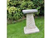 Large Celtic Bird Bath - Stone Garden Ornament Made In Cornwall