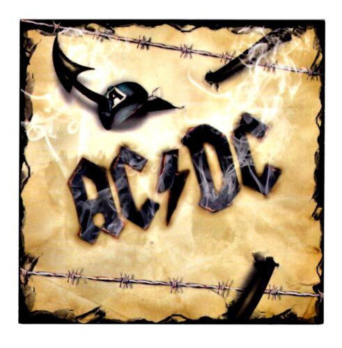 AC/DC Barb Wire Sticker Decal Hippie Biker Heavy Metal Rock n Roll