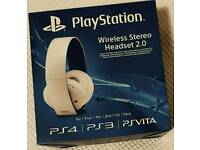 Playstation Wireless Stereo Headset 2.0 White Brand New Boxed