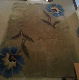Part handmade rug