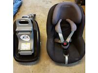 MAXI COSI Pearl car seat Black and FAMILY FIX base