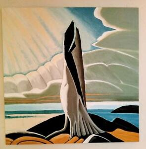 "Huge 48""x48"" Reproduction Painting LAWREN HARRIS STUDY Group of Seven Art Student Koudelka"