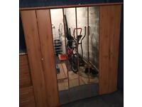 Large IKEA Wardrobe - Lights & Sliding Doors - Immaculate Condition