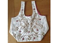 Beach, Festival Bag Embroidered with Beads & Shells NEW