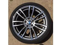 "BMW 3/4 SERIES FX MODELS ""19"" 403 MSPORT REAR ALLOY WHEEL 9j"