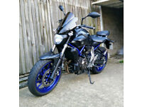 Yamaha MT07 MT-07 ABS - AKRAPOVIC EXHAUST - EXTRAS
