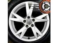 "17"" Genuine Audi A4 alloys Renault Trafic Vauxhall Vivaro excel cond excel tyres."