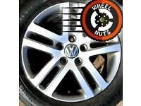 "16"" Genuine VW alloys Caddy Golf excel cond match tyres."