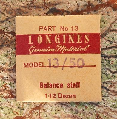 Vintage Longines 13/50 Watch Balance Staff Watch Swiss Part Longines Part 13
