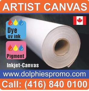 Blank Roll of Fine Quality Polyest Matte Art Canvas Artist ARTISTIC Supply for Inkjet Canvas Prints Printing - $129/roll