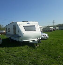 Hobby Caravan 2008 25ft island bed cassett toilet hot and cold water internal water tank