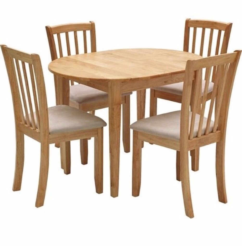 Homebase Banbury Extending Table And 4 Dining Chairs In