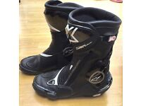 Alpinestar SMX Plus Motorcycle Boots, Very Good Condition, Hardly Worn