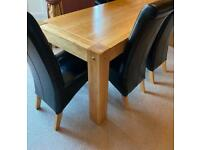 Oak Dining Table & 8 Chairs