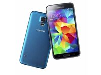 Unlocked Samsung Galaxy S5 in Blue with box - £100