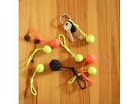 Globe knot key ring