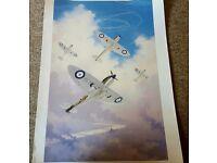Print of Spitfires in flight