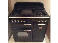 Leisure Classic 90 Black Gas Double Oven Range Cooker with Warranty