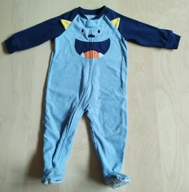 Carter's Monster Print Microfleece Baby Clothes 12 Months