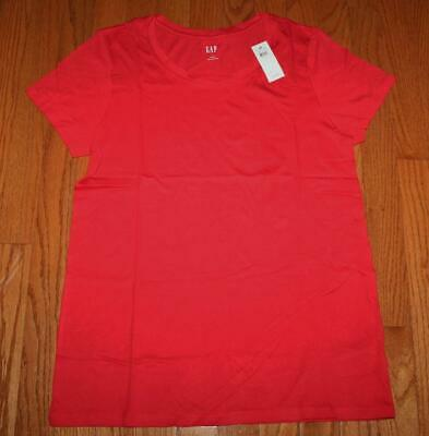 NEW NWT Womens GAP Short Sleeve Crewneck T-Shirt FAVORITE Tee Red FREE SHIP *F4