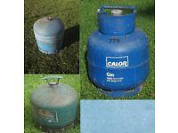 Campingaz R907 2.75 kg cylinder gas bottle 1/3 full£15. Empty £10.Calor gas 4.5kg butane. Full £25