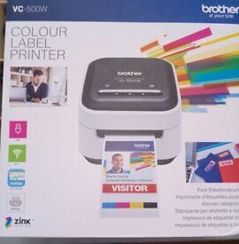 Brother VC500W colour label printer