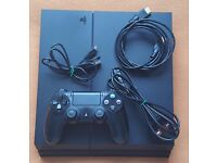 PS4 500Gb Sony Playstation 4 CUH1216a + 7 Digital Games + 1 Genuine Pad and all wires