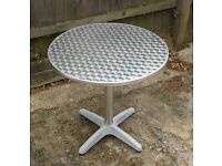 Metallic finish Bistro table