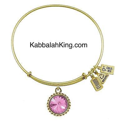 Wind & Fire June Alexandrite Crystal Birthstone Charm Gold Bangle Bracelet USA Alexandrite Crystal Bracelet
