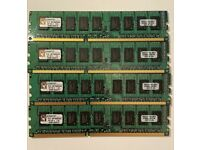 Kingston ECC RAM, DDR3, 4 X 2GB, 1066